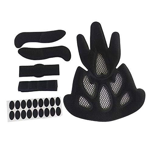 T TOOYFUL Cuscinetti per Casco universali con Fly Net Block Mesh Kit di Imbottitura in Schiuma di Ricambio Protezione per Casco per Bici Fodera Lavabile - Forma della Fiamma