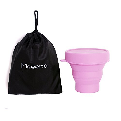 Caja de almacenamiento esterilizadora y plegable para copa menstrual