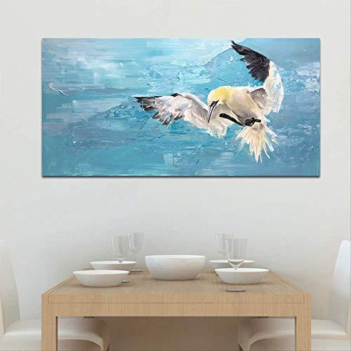 Monochroom abstract vogel schilderij canvas foto moderne muurschilderingen woonkamer kantoor aan huis wanddecoratie 30x45cm geen frame