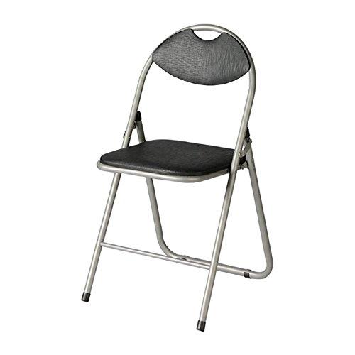 GAOJIAN Hocker GAOJIAN Mode-Rückenlehne Stuhl Haushalt Esstisch Klappstuhl Büro Konferenz Stuhl Hocker Kohlenstoffstahl Pu schwarz Stuhl Hocker