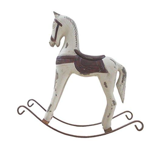 Corte de madera Artificial HerZii caballo de madera caballo de hierro antiguo de imitación decoración para el hogar inferior caballo tallado de regalo de los niños