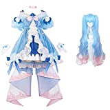 Hatsune Miku invierno traje de cosplay miku lolita vestir carnaval de disfraces de Halloween animado femenina de alta calidad peluca de la manera del traje M Ropa de moda peluca WTZ012