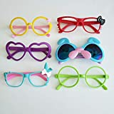 Eye Glasses for Children Kids Boys Girls Stylish Cute Frame Without Lenses, Pack of 6 (Combo #7)