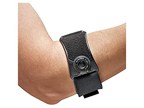 Futuro - 70005141596 FUTURO Custom Pressure Elbow Strap, Ideal for Tennis Elbow and Tendonitis, One Size Black