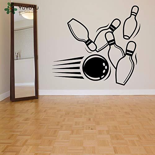 Ajcwhml Wandtattoos Bowling Bowlingkugel Muster Soprt Wandaufkleber Moderne Mode Kunst Wandbild Spielzimmer spezielle Fensterdekoration Design 46x42cm