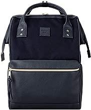 Kah&Kee Laptop Backpack Teacher Bag Stylish School Travel Perfect Commuting Backpack for Women Man (Navy)