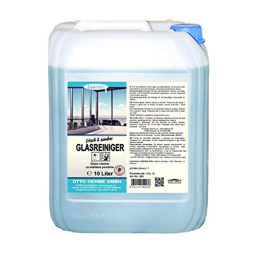 Lorito frisch & sauber Glasreiniger, Fensterreinigungsmittel Oberflächenreiniger 10 Liter