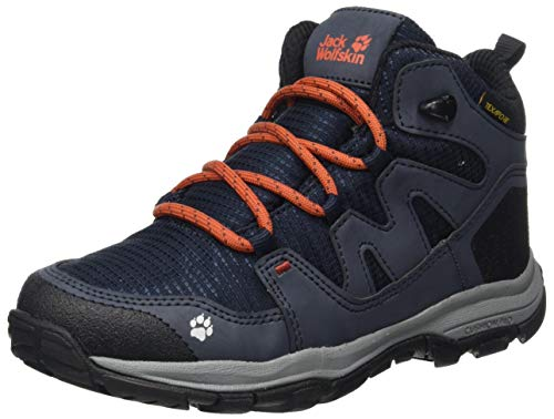 Jack Wolfskin Jungen Unisex Kinder MTN Attack 3 Texapore MID K Outdoorschuhe, Dark Blue/orange, 30 EU