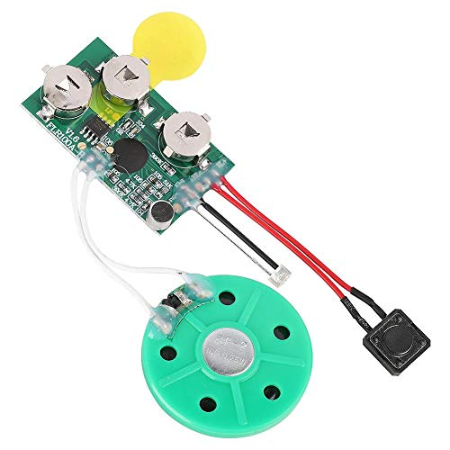 fosa DIY Greeting Card Chip, 60 Seconds Music Sound Audio Voice Recording Module Device Chip Recordable Sound Chip for Christmas Cards, Creative Gift Boxes, Jewelry Boxes, Crafts, Children's Toys
