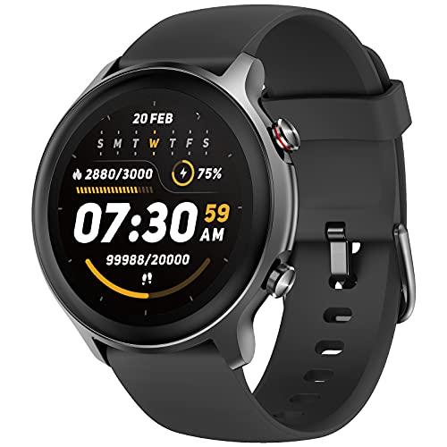 Weofly Smartwatch Uomo Donna Orologio Fitness Full Touch Schermo Impermeabile 5ATM Modalità Nuoto Activity Tracker Sportivi Cardiofrequenzimetro Sonno Contapassi Messaggi Cronometro per Android iOS