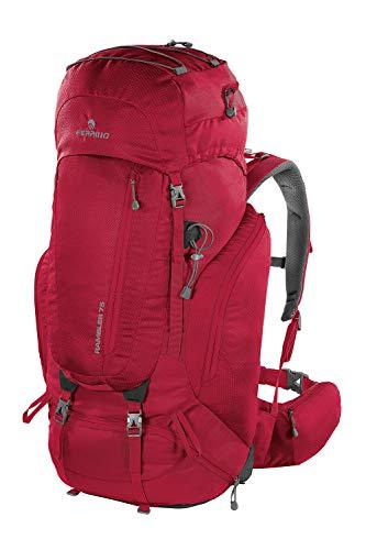 Ferrino Rambler 75 - Mochila de senderismo unisex, color rojo, 75 litros