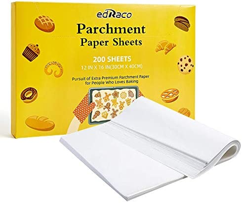 200Pcs Precut Parchment Paper Sheets for Baking 12 x 16 Inch Fit for Baking Sheet Non Stick product image