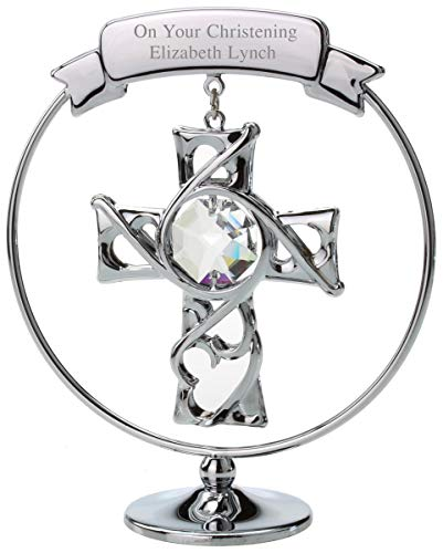 Go Find A Gift Personalised Engraved Crystocraft Cross Ornament
