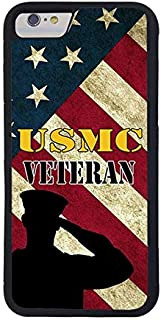 FIDIKO USMC Soldier Marine Corps Veteran US Flag Previous Cases Compatible iPhone 7, Popular Hard Plastic Slim   Anti Slip Phone case Compatible iPhone 7/8