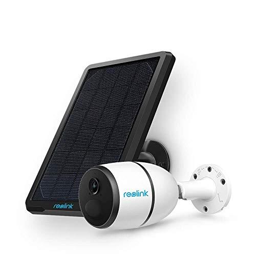 Reolink Go 3G/4G LTE Überwachungskamera Aussen mit Solarpanel, 1080p Kabellose IP Kamera Outdoor mit Akku, SD Kartenslot, 2-Wege-Audio, PIR Sensor, Sternenlicht Nachtsicht (Nicht LAN-/ WLAN-Tauglich)