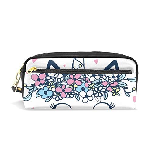 Crayon Sac Stylo Etui Pochette Mignon Chat Animal Sourire Coeur Fleur Licorne Maquillage Cosmétique pour Filles Garçons École De Voyage