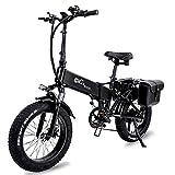 Klappbares E-Bike, 750 W Motor + 15Ah Versteckter Batterie abnehmbar, Electric Bike 45 km/h bis zu 110 km, Mit Fahrradtasche,[EU Warehouse]