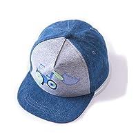 (コネクタイル)Connectyle 夏 コットン キャップ キッズ 可愛い 車柄 UVカット 子供 男の子 調整可能 日よけ帽子 赤ちゃん 幼児 ベビー用ハット L