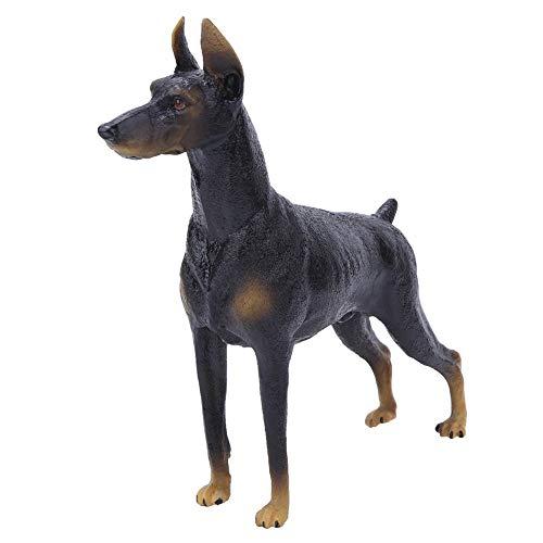 Tnfeeon Lebensechte Schwarze Dobermann Tier Modell Spielzeug, solide simulierte Figur Spielzeug wunderbare Kreatur Sammlung Geschenk für Kinder