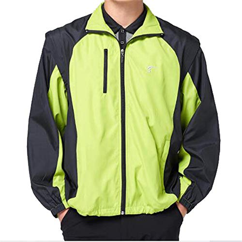 Kühle Reflektierende Bekleidung Herren Langarm Herbst Winter Golf Trenchcoat Fluoreszierende grüne Golfkleidung Sicherheitscodes bei Nacht (Color : Green, Size : M)