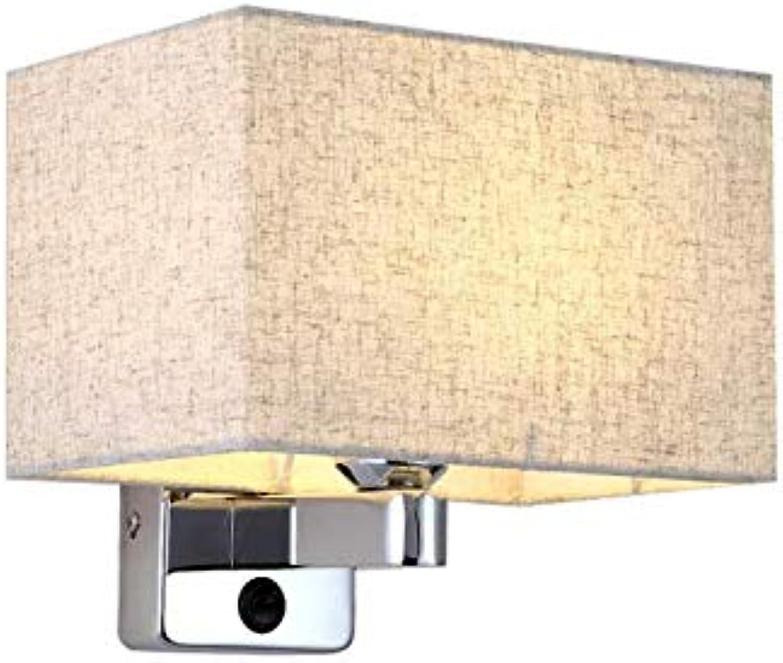 Klassische Stoffwandlampe Nachttischlampe Wand Schlafzimmer einfache moderne Stoff Wohnzimmer Treppe Gang Lampe Wandlampe
