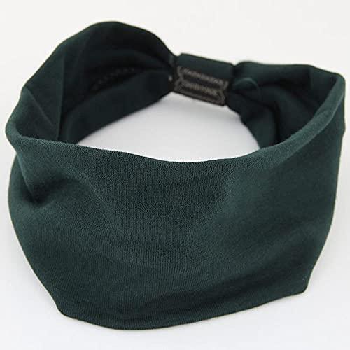 Modis Cotton Women Copricapo Stretch Turbante Accessori per Capelli 1PC Copricapo Yoga Run Fasciatura Fasce per Capelli Fasce Larghe Headwrap