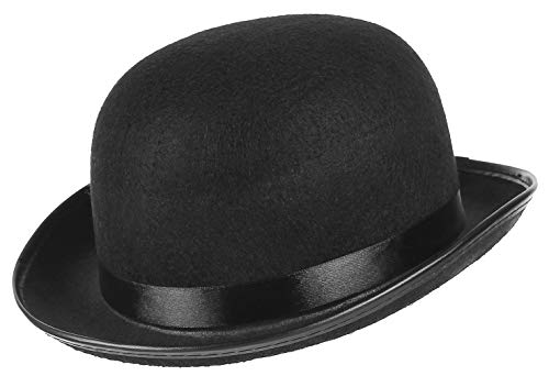 GEMVIE Felt Derby Bowler Hat Unisex Adults Light Bowler Hat Costume Dress...