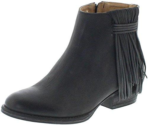 Mezcalero Boots 2000 CAMIL Negro Lederstiefette für Damen Schwarz Fashion Stiefelette, Groesse:39