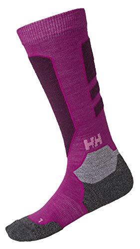 Helly Hansen Damen Black Alpine Socken, Festival Fuchsia, 36-38