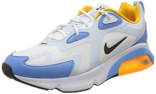 Nike W Air MAX 200, Zapatillas Mujer, Multicolor (White/Black/Half Blue 101), 42 EU