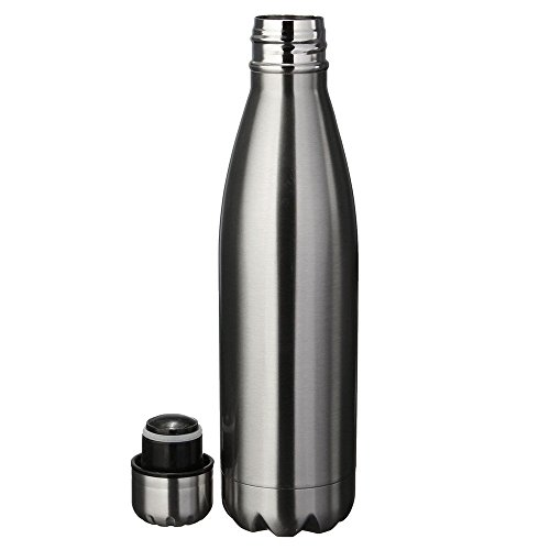 Minkoll - Bouteille thermos, isotherme, en acier inoxydable, double paroi, gourde pour l'extérieur (500 ml)
