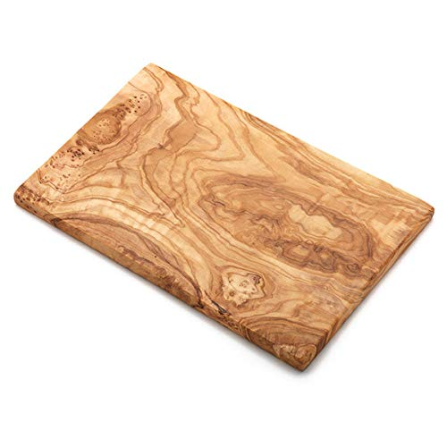 NATUREHOME Frühstücksbrett Oliven-Holz 25cm Schneidebrett Vesperbrett 25 x 15 x 1,3 cm auch als Frühstücksbrett und Küchenbrett Größe S