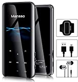 Mansso MP3 Player with Bluetooth 4.2-16GB Music MP3 Player Portable HiFi Lossless Sound Music Player with 2.4'' Curved Screen, FM Radio Voice Recorder E Book,Earphone & Armband Expandable up to 128