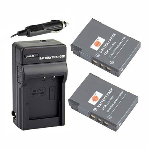 DSTE 2X KLIC-7002 Rechargeable Li-ion Battery + DC53 Travel & Car Charger for Kodak EasyShare V530 V603 Zoom Camera