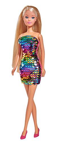 Simba 105733279 - Steffi Love Puppe mit Swap Kleid / Paillettenkleid / Wendepailletten Kleid