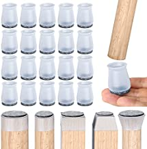 20PCS Upgraded Chair Feet Protectors for Wood Floors, Free Moving Chair Leg Caps to Protects Floor, Silicone Felt Furniture Chair Leg Caps(Smallest)