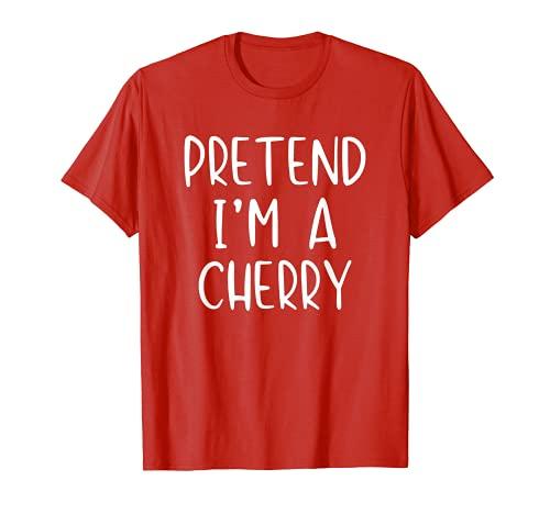 Disfraz de cereza de Halloween Lazy Easy ltimo minuto Camiseta