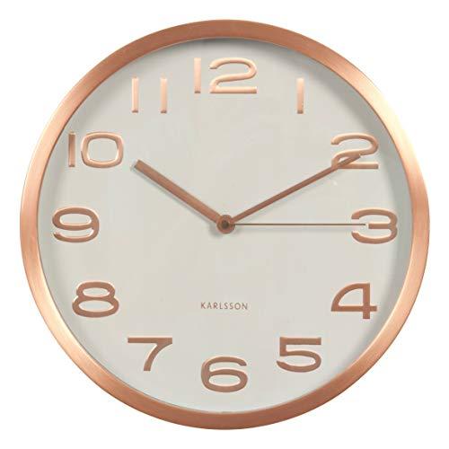 Karlsson Maxie - Reloj de Pared, Metal, Cobre
