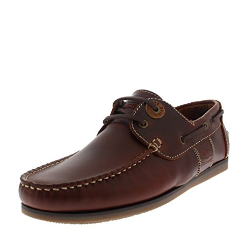 Mens Barbour Capstan Leather Mahogany Loafer Casual Moccasins Flat Shoes - Mahogany - 12