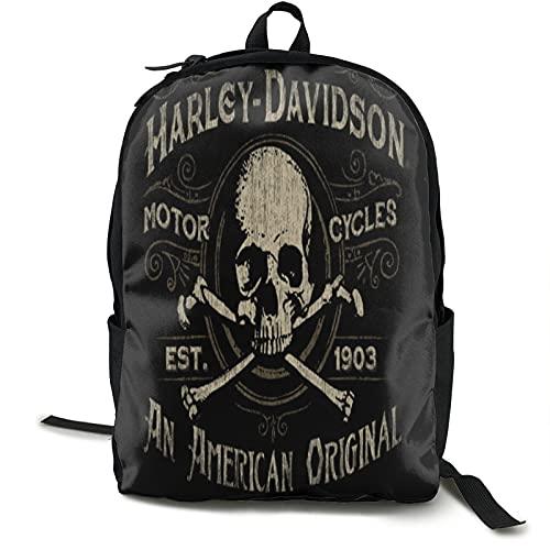 Harley_Davidson, zaino per computer portatile da 15,6', impermeabile, ampio aperto, per lavoro, lavoro, per uomo, donna, nero