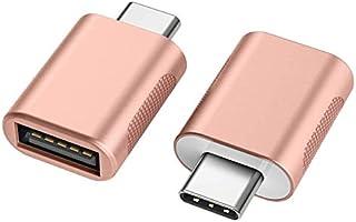nonda USB C to USB Adapter(2 Pack), USB-C to USB 3.0 Adapter, USB Type-C to USB,Thunderbolt 3 to USB Female Adapter OTG...
