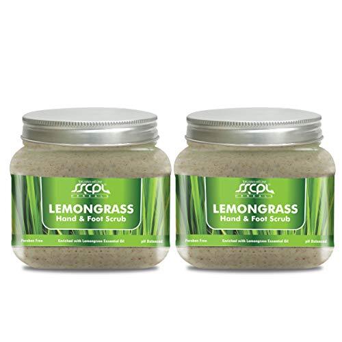 SSCPL Herbals Lemongrass Hand & Foot Scrub Cream Base Paraben Free - Gentle Exfoliation & Moisturization, Radiant Skin (150gms x 2 Pcs)