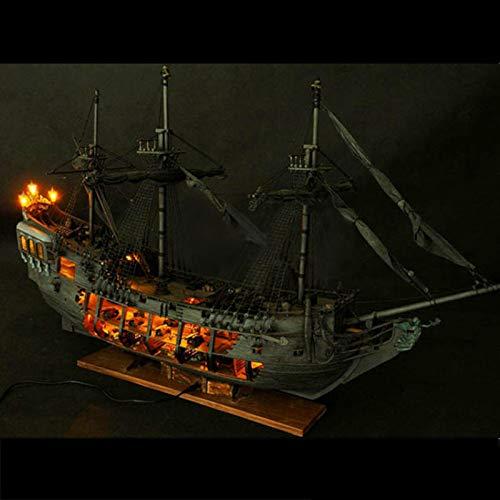 Pirate Black Pearl Sailing Model Sevenmore Pirate Full Scene Black Pearl Sailing Ship Boats Model Kit DIY Crafts a
