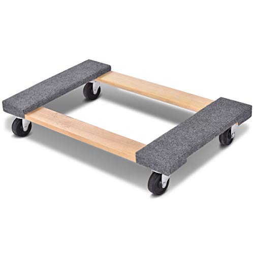 "Toolsempire 4 Wheeled Heavy Duty Furniture Dolly Moving Carrier Casters for Heavier Items 1000lbs Capacity 30"" x 18"""