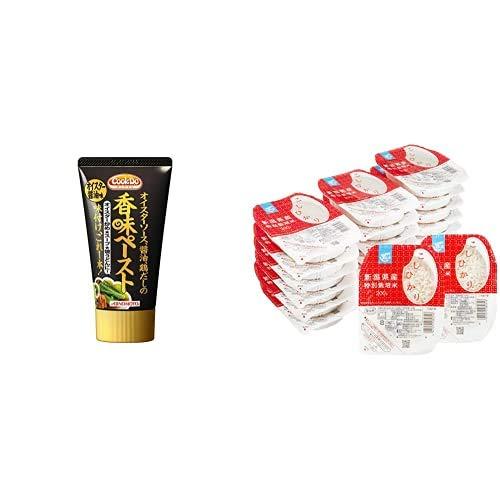 味の素 Cook Do 香味ペースト<醤油> 120g×3本 + Happy Belly パックご飯 新潟県産こしひかり 200g×20個(白米) 特別栽培米