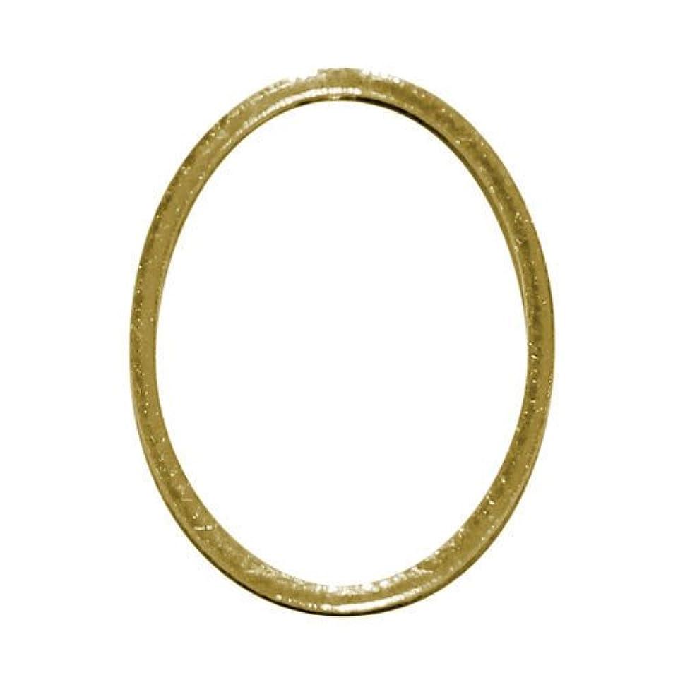 分岐する甘やかす一般的に言えばプリティーネイル ネイルアートパーツ フレームオーバルL ゴールド 3個