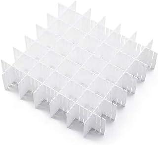 DIY Separadores de Cajones 32.4x7 cm, JSF Set de 12 Ajustable Organizador de Cajones (Blanco)