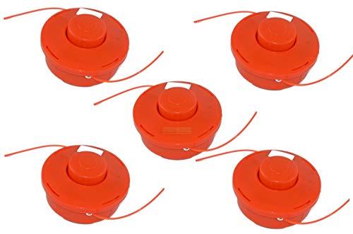 5 X Fadenspule mit Tippautomatik für Fuxtec/vidaXL/Leader/Monzana/Einhell/Brast/Nemaxx/Ryobi/Plantiflex/Timbertech/Berlan/Timberpro/KnappWulf/Zipper/Rotfuchs Motorsense Freischneider