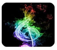 カラフルなFire Music Notes耐久性のあるマウスパッド快適で滑りにくい