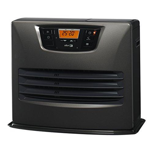 Zibro Lc 150 Stufa a Combustibile Elettronica, portatile, 4650 W, Grigio, da 30m2 - 76m2, senza installazione, termostato regolazione settimanale, Classe di efficienza Energetica A